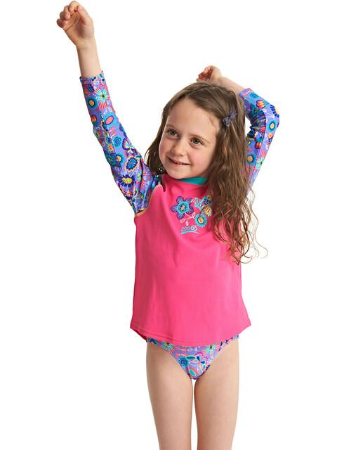 Zoggs Wild - Camiseta manga corta Niños - rosa/azul